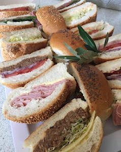 Rolls with assorted savoury fillings