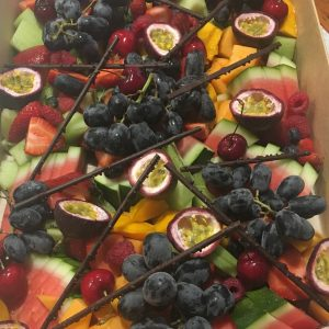 A large selection of fresh fruits