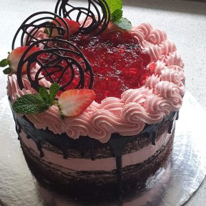 A speciality cake by Bazil's Catering